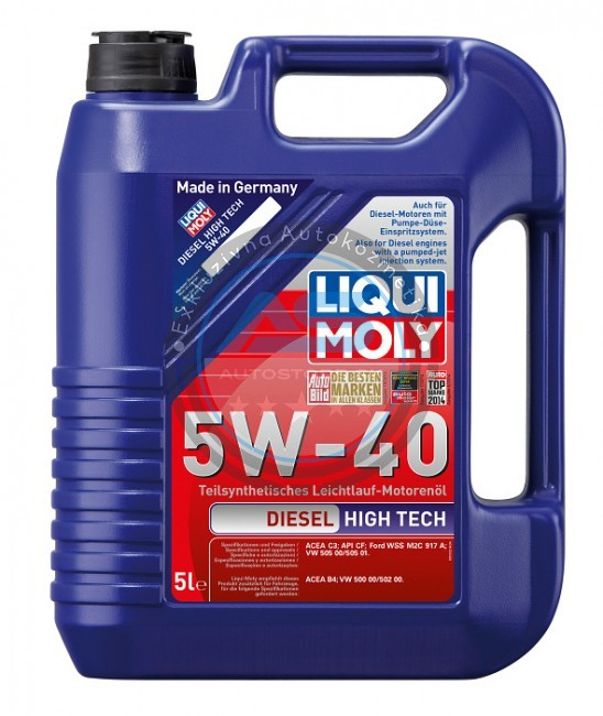 liqui moly motorov olej diesel high tech 5w 40 autostore sk. Black Bedroom Furniture Sets. Home Design Ideas