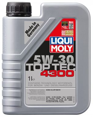 LIQUI MOLY Motorový olej TOP TEC 4300 5W-30