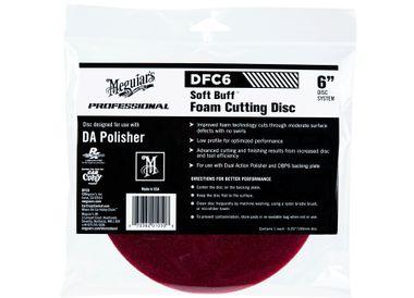 """MEGUIARS Soft Buff Foam Cutting Disc 6"""" DFC6"""